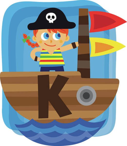 Word Play Photograph - Illustration Of Girl Dressed As Pirate by Fanatic Studio / Science Photo Library