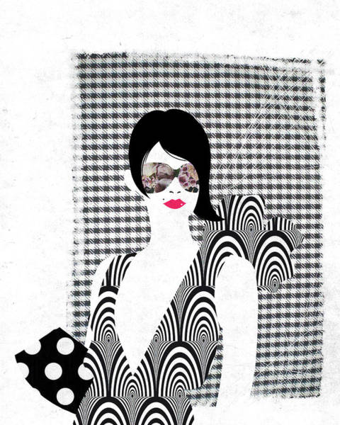 Checker Photograph - Illustration Of Glamorous Young Woman Over White Background by Fanatic Studio / Science Photo Library