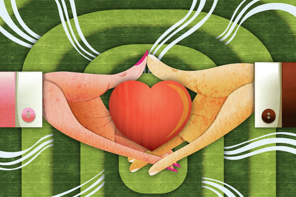Wall Art - Photograph - Illustration Of Hands With Heart by Fanatic Studio / Science Photo Library