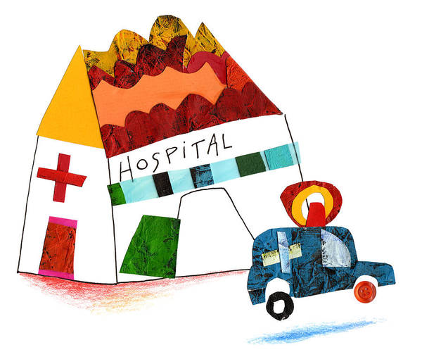 Wall Art - Photograph - Illustration Of Hospital And Ambulance by Fanatic Studio / Science Photo Library