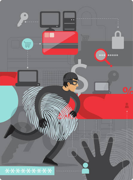 Impression Photograph - Illustration Of Internet Identity Theft by Fanatic Studio / Science Photo Library