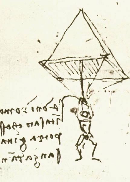 Wall Art - Photograph - Illustration Of Leonardo Da Vinci's Parachute by Sheila Terry/science Photo Library