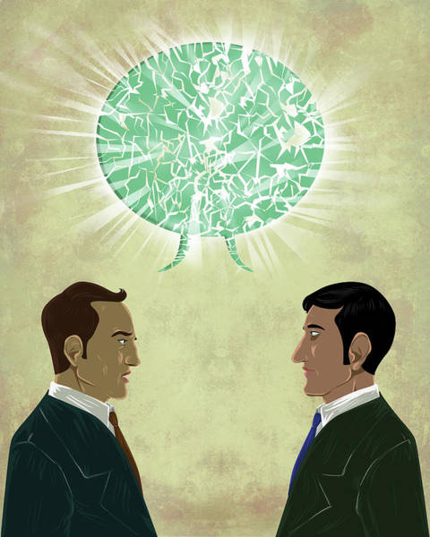 Dialogue Photograph - Illustration Of Miscommunication by Fanatic Studio / Science Photo Library