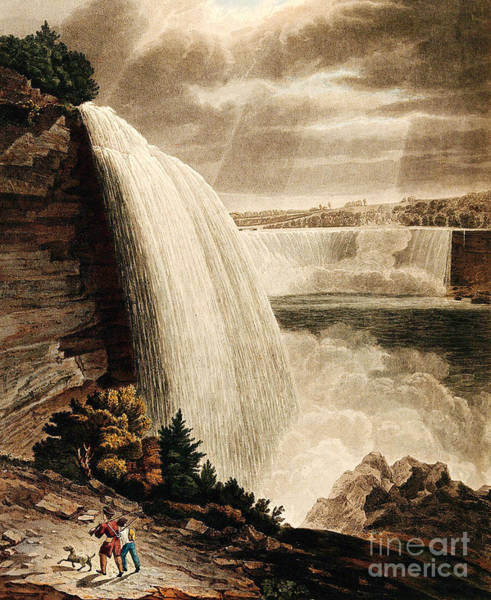 Photograph - Illustration Of Niagara Falls, 1829 by Wellcome Images