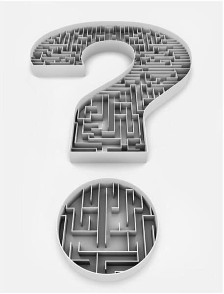 Wall Art - Photograph - Illustration Of Question Mark With Maze by Fanatic Studio / Science Photo Library