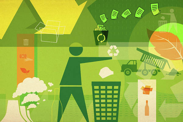 Wall Art - Photograph - Illustration Of Recycling by Fanatic Studio / Science Photo Library