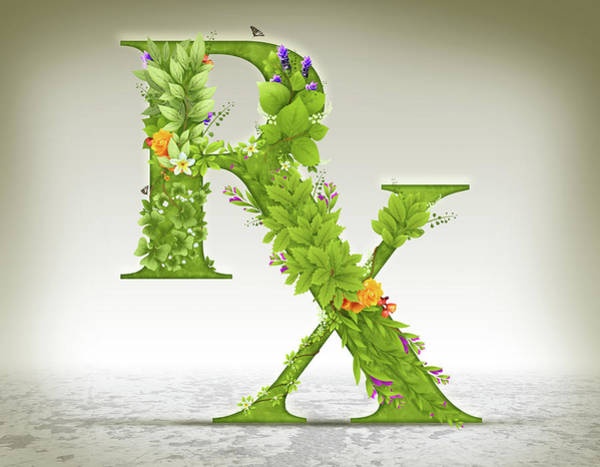 Wall Art - Photograph - Illustration Of Rx Symbol Made Of Herbs by Fanatic Studio / Science Photo Library