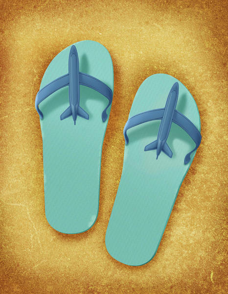 Flip Flops Photograph - Illustration Of Sandals by Fanatic Studio / Science Photo Library