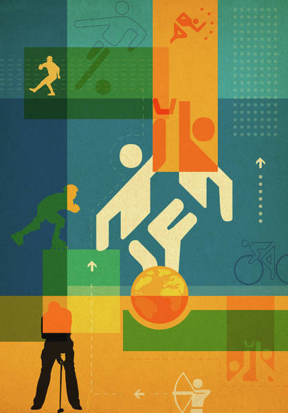 Wall Art - Photograph - Illustration Of Various Sports by Fanatic Studio / Science Photo Library