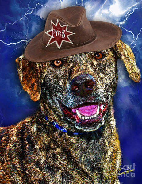 Digital Art - I'm A Canine Community Reporter by Kathy Tarochione