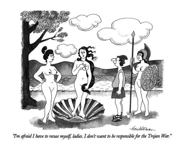 Naked Men Drawing - I'm Afraid I Have To Recuse Myself by J.B. Handelsman