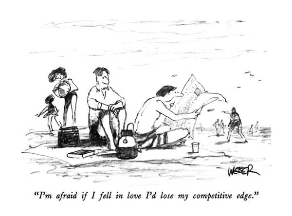 Edge Drawing - I'm Afraid If I Fell In Love I'd Lose by Robert Weber