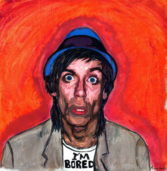Iggy Pop Painting - I'm Bored by Michael Jenks