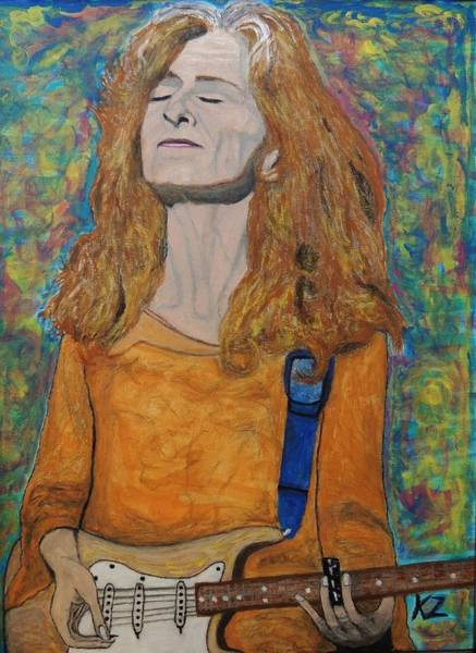Rockstar Painting - I'm In The Mood For Bonnie Raitt. by Ken Zabel