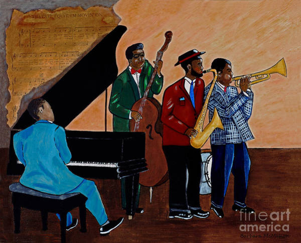 Modal Jazz Wall Art - Painting - Im Moving On by Barbara McMahon