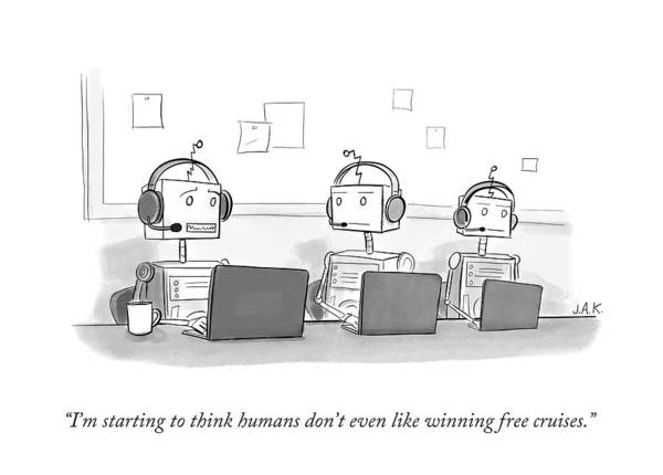Win Drawing - I'm Starting To Think Humans Don't Even Like by Jason Adam Katzenstein