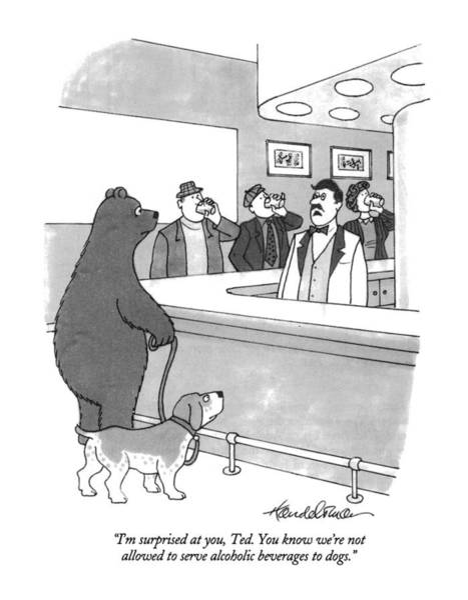 Bartender Drawing - I'm Surprised by J.B. Handelsman