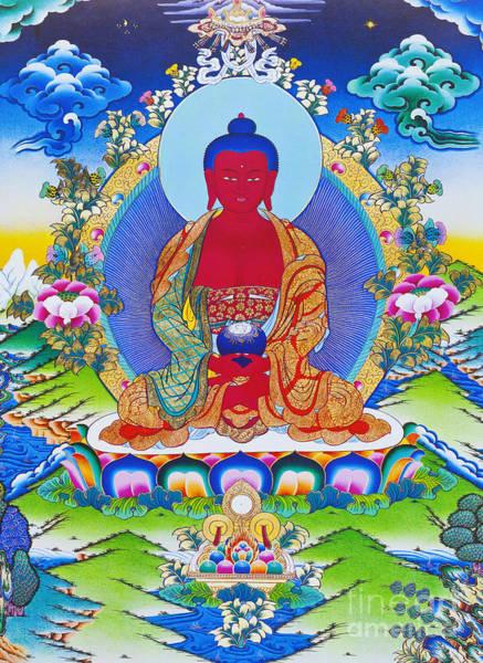 Wall Art - Photograph - Image Depicting Amitabha Buddha Seated On A Lotus by Roberto Morgenthaler