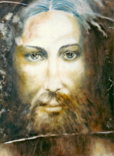 Umber Painting - Image Of Christ by Henryk Gorecki