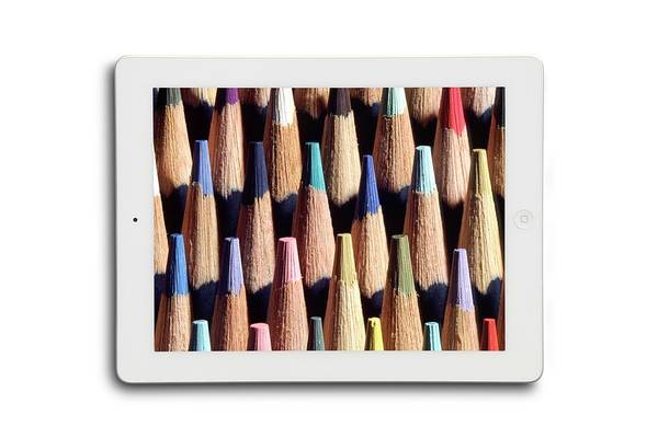 Wi Photograph - Image Of Pencils On A Tablet Display by Victor De Schwanberg/science Photo Library