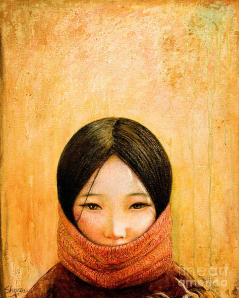 Child Painting - Image Of Tibet by Shijun Munns