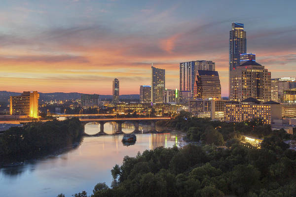 Ladybird Wall Art - Photograph - The Austin Skyline On A Summer Evening 1 by Rob Greebon