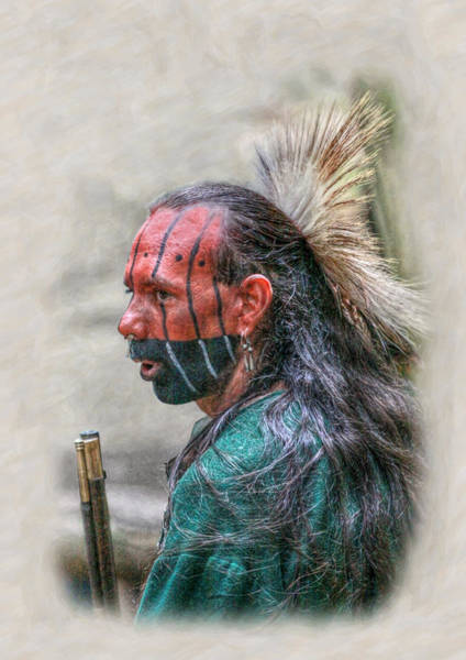 Clarion Digital Art - Images Of Cook Forest Native American Warrior Portrait by Randy Steele