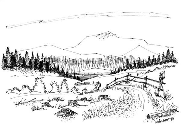 Drawing - Imagination 1993 - Symphony Vision by Richard Wambach