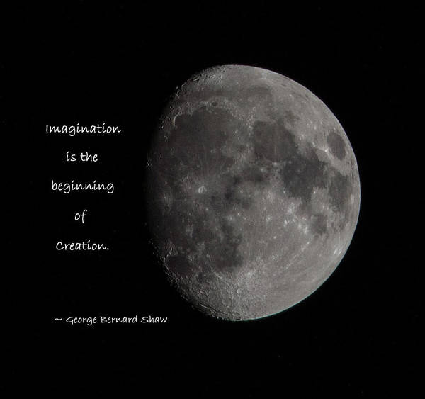 Photograph - Imagination - Moon Rise by Jordan Blackstone