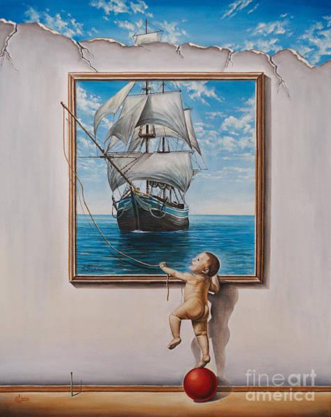 Magic Realism Painting - Imagination by Svetoslav Stoyanov