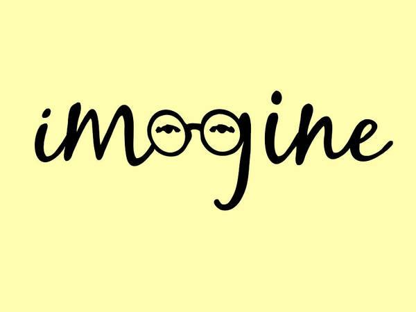 Typography Wall Art - Digital Art - Imagine - John Lennon  Tribute by Denis Marsili