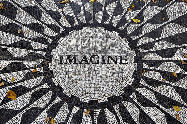 Homage Photograph - Imagine A World Of Peace by Garry Gay