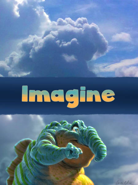 Cloud Digital Art - Imagine by Aaron Blaise