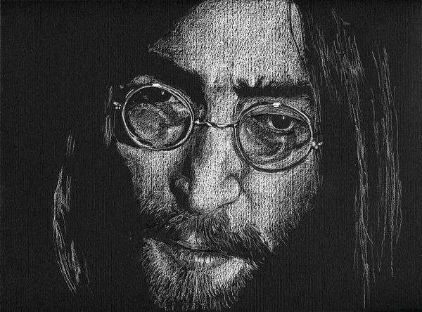 Drawing - Imagine - John Lennon by William Underwood