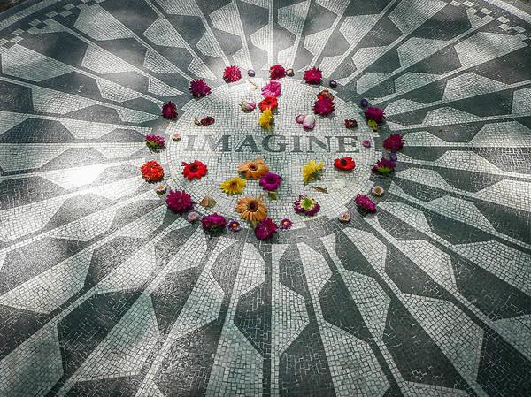 Photograph - John Lennon Memorial by Steven Sparks