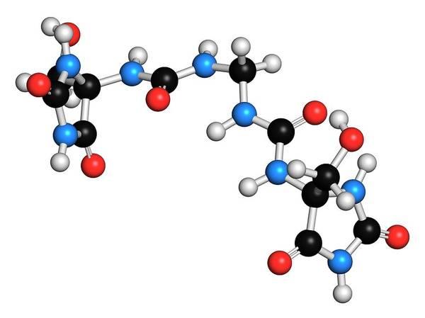 Preservative Wall Art - Photograph - Imidazolidinyl Molecule by Molekuul/science Photo Library