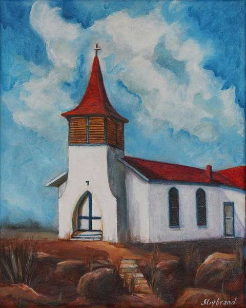 Sw Painting - Immaculate Conception Catholic Church Of Cimarron New Mexico by Judy Lybrand