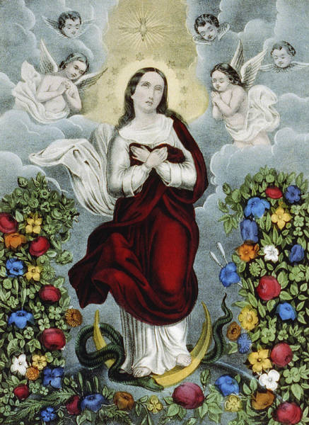 Wall Art - Painting - Immaculate Conception Circa 1856  by Aged Pixel