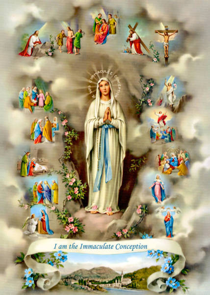 Immaculate Conception Wall Art - Painting - Immaculate Conception by Munir Alawi