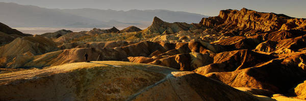 Furnace Creek Photograph - Immersive Zabriskie Point by Dan Mihai