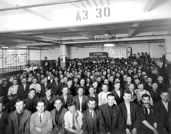 Immigrant Photograph - Immigrants Working At Ford by Underwood Archives