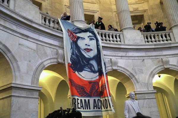 Rotunda Photograph - Immigration Activists And Dreamers by John Moore