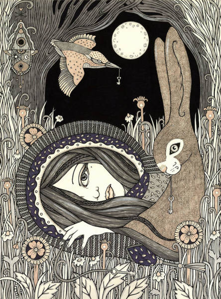 Crone Wall Art - Painting - Imogen by Anita Inverarity