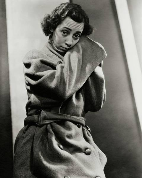 Imogene Coca Wearing An Oversized Coat Art Print