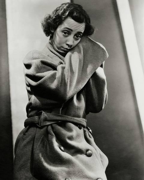 Photograph - Imogene Coca Wearing An Oversized Coat by Lusha Nelson