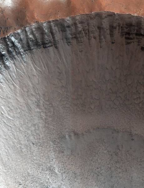 Gully Photograph - Impact Crater On Mars by Nasa/jpl/university Of Arizona