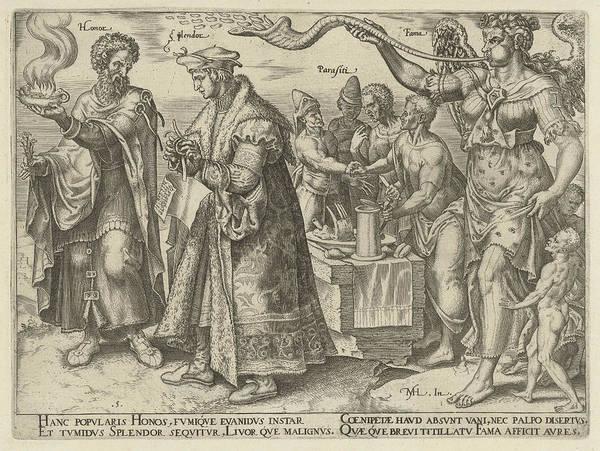 Impact Of Wealth, Philips Galle, Hadrianus Junius Art Print