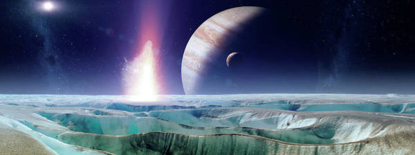 Wall Art - Photograph - Impact On Early Europa by Nasa/gsfc/science Photo Library