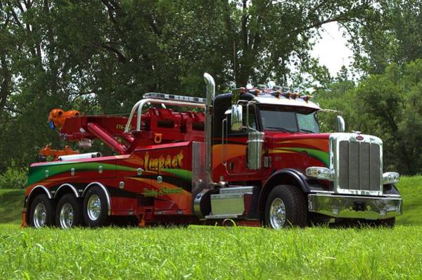 Photograph - Impact Tow Service Peterbilt Big Rig Tow Truck by Tim McCullough