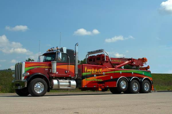 Photograph - Impact Towing And Recovery Big Rig Tow Truck by Tim McCullough